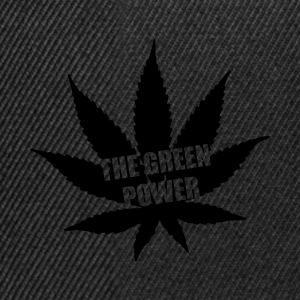 The green Power - Cannabis Langærmede t-shirts - Snapback Cap