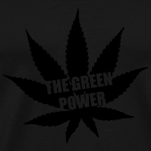 The green Power - Cannabis Tassen & rugzakken - Mannen Premium T-shirt
