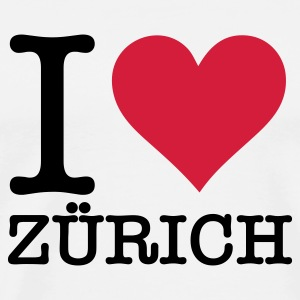 I love Zurich Mugs & Drinkware - Men's Premium T-Shirt