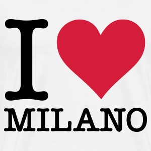 I Love Milan Tops - Men's Premium T-Shirt