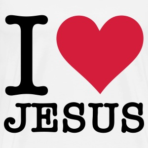 I Love Jesus Hoodies - Men's Premium T-Shirt