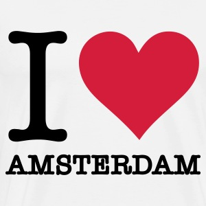 I love Amsterdam Manches longues - T-shirt Premium Homme