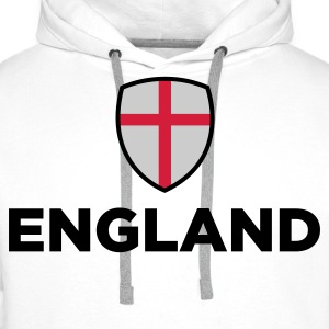 National flag of England Polo Shirts - Men's Premium Hoodie
