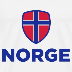 National Flag Norge Toppe - Herre premium T-shirt