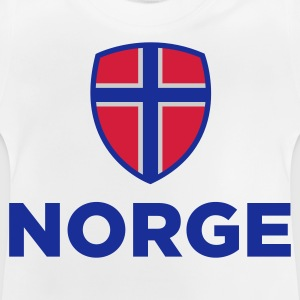 Nationalflagge von Norwegen Langarmshirts - Baby T-Shirt