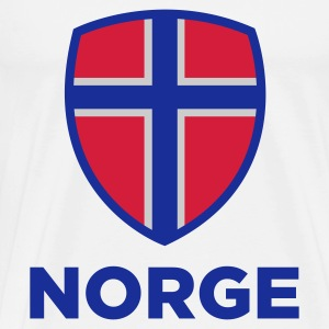 National Flag Norge Sweatshirts - Herre premium T-shirt
