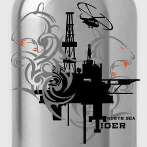 Oil Rig Oil field North Sea Tiger Aberdeen  T-Shirts - Water Bottle