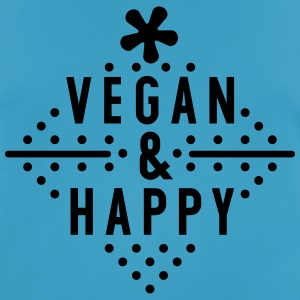 Vegan & Happy  - Männer T-Shirt atmungsaktiv