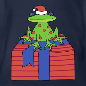 Christmas frog t-shirt for teenagers - Organic Short-sleeved Baby Bodysuit
