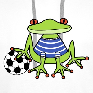 Football frog t-shirt for kids - Men's Premium Hoodie