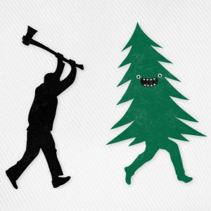 Funny Christmas Tree Hunted by lumberjack Humor Polo skjorter - Baseballcap