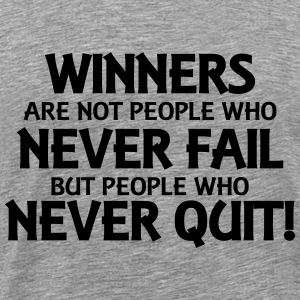 Winners are not people who never fail... Maglie a manica lunga - Maglietta Premium da uomo