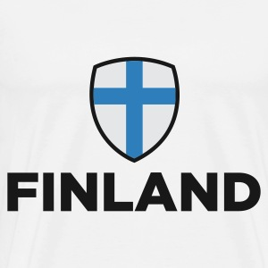 National Flag of Finland Hoodies - Men's Premium T-Shirt