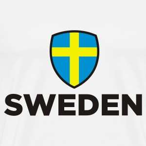 National flag of Sweden Baby Bodysuits - Men's Premium T-Shirt