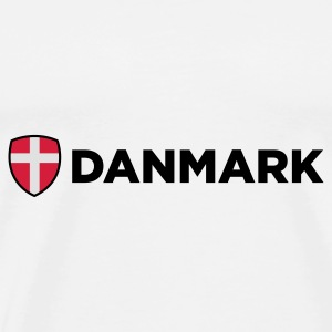 Drapeau national du Danemark Sous-vêtements - T-shirt Premium Homme