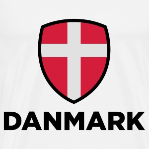 National flag of Denmark Hoodies - Men's Premium T-Shirt
