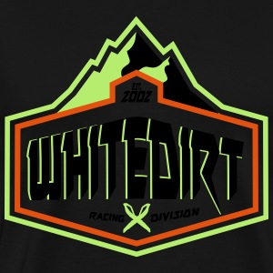 Whitedirt Mountain Logo Pink White Wms - Premium T-skjorte for menn