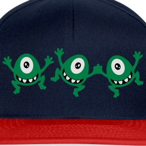 celebrate cute sassy little cyclops monster party  T-Shirts - Snapback Cap