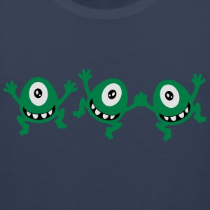 celebrate cute sassy little cyclops monster party  T-Shirts - Men's Premium Tank Top