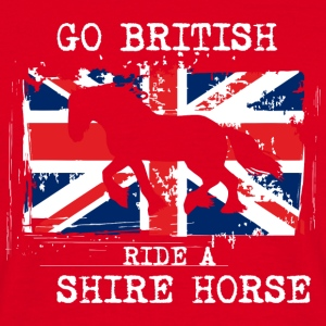 Go British - ride a Shire Horse Mugs & Drinkware - Men's T-Shirt