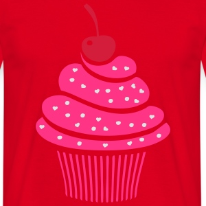 Sweet Cherry cupcake Cooking Apron - Men's T-Shirt