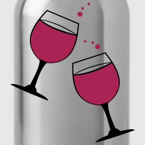 Cheers glasses of wine Cooking Apron - Water Bottle