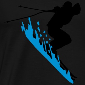 skiing, skier Tank Tops - Men's Premium T-Shirt