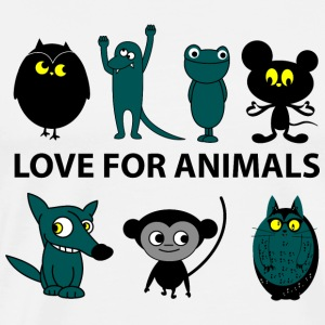 love for animals Long sleeve shirts - Men's Premium T-Shirt