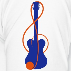 Cup with guitar in the clef  - Men's Premium T-Shirt