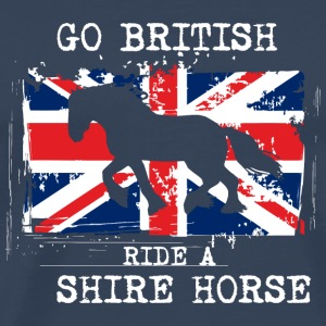 Go British - ride a Shire Horse Andet - Herre premium T-shirt