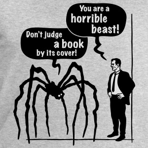 Cartoon: Horrible Beast! / Don't judge a book by its cover! T-Shirt - Men's Sweatshirt by Stanley & Stella