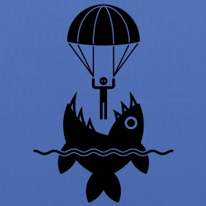 Parachutist with fish / Fallschirmspringer mit Fis - Tote Bag