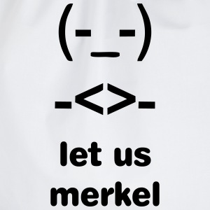 Merkel, Merkel-Raute, merkel diamond T-Shirts - Drawstring Bag