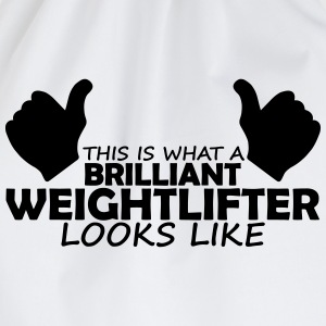 brilliant weightlifter T-Shirts - Drawstring Bag