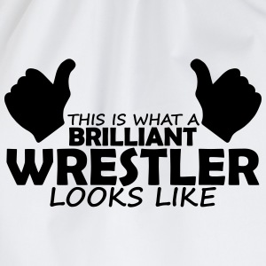 brilliant wrestler T-Shirts - Drawstring Bag