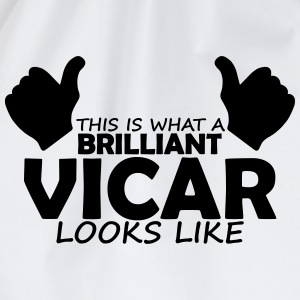 brilliant vicar T-Shirts - Drawstring Bag