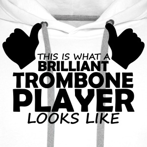 brilliant trombone player T-Shirts - Men's Premium Hoodie
