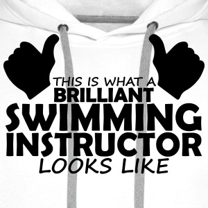brilliant swimming instructor T-Shirts - Men's Premium Hoodie