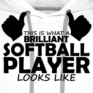 brilliant softball player T-Shirts - Men's Premium Hoodie