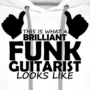 brilliant funk guitarist T-Shirts - Men's Premium Hoodie
