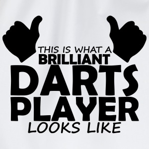 brilliant darts player T-Shirts - Drawstring Bag