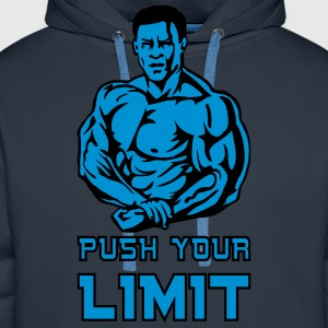 push your limit T-Shirts - Sudadera con capucha premium para hombre