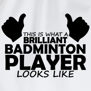 brilliant badminton player T-Shirts - Drawstring Bag