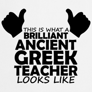 brilliant ancient greek teacher T-Shirts - Cooking Apron