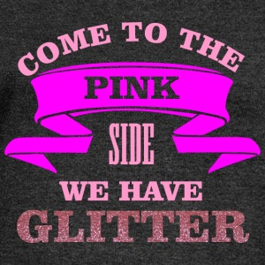 Come to the pink side - we have glitter T-shirts - Långärmad tröja med båtringning dam från Bella