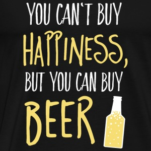 Cant buy happiness, but beer Toppar - Premium-T-shirt herr