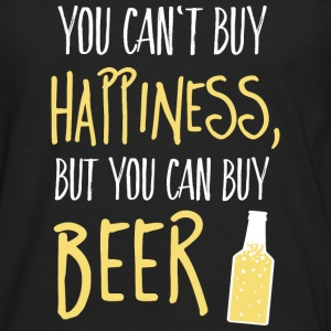 Cant buy happiness, but beer Tops - Männer Premium Langarmshirt