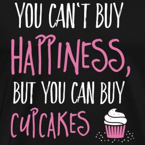 Cant buy happiness, but cupcakes Tops - Männer Premium T-Shirt