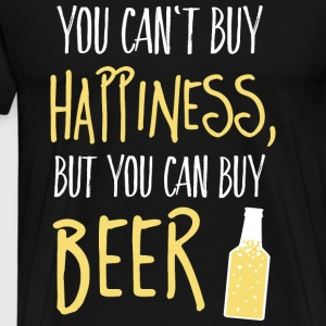 Cant buy happiness, but beer kan ikke købe lykke, men øl Sweatshirts - Herre premium T-shirt