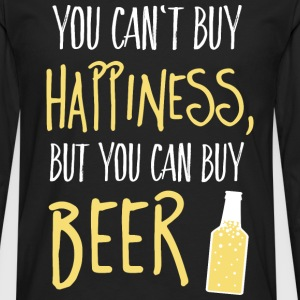 Cant buy happiness, but beer Pullover & Hoodies - Männer Premium Langarmshirt
